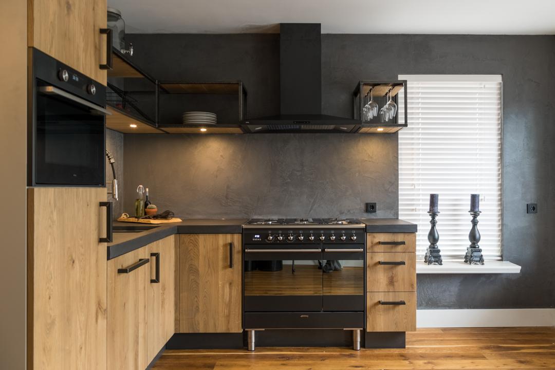 Moderne industriële keuken interieur inrichting